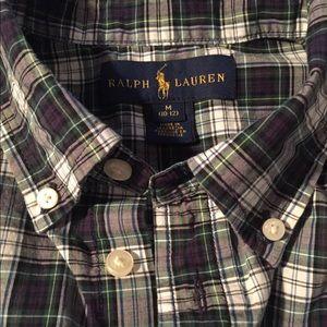 Boys plaid polo Ralph Lauren Shirt